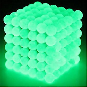 Magnetic balls to build and learn with-glow in the Dark Green