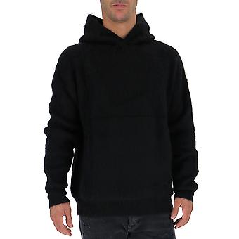 Laneus Black Wool Sweatshirt