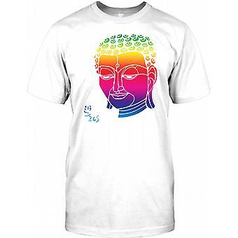 Arco iris Buda cara - diseño fresco para hombre camiseta