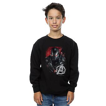 Marvel Boys Avengers Endgame War Machine Brushed Sweatshirt