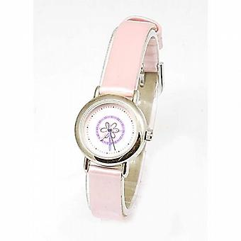 Carvel Flower Time Teacher Pink Metallic Girls Strap Fashion Watch C960.24FX