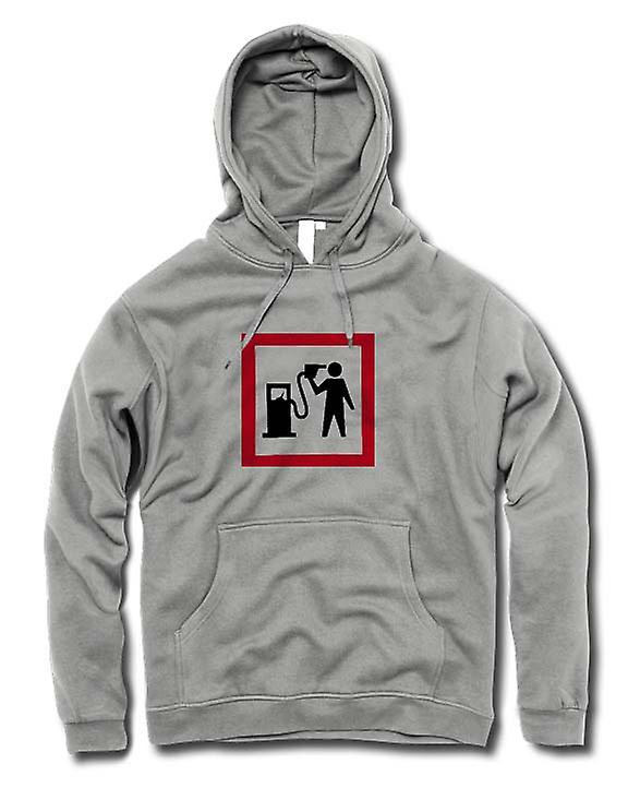Mens Hoodie - Petrol Head Love Motors