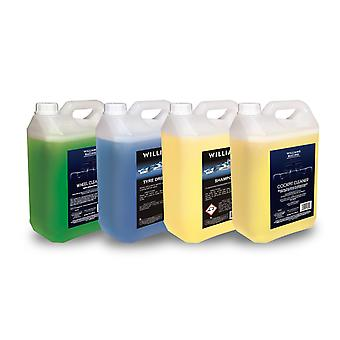 Williams Racing Car Care Cleaning Kit 4 x 5L Quad Pack car essentials