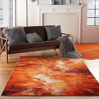 Le Reve LER05 rote Flamme Rechteck Teppiche Funky Teppiche