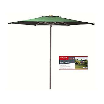 2.1M Green Steel Parasol Garden Umbrella