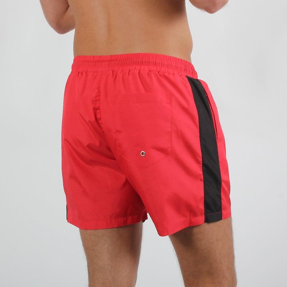 Nuevo Club Panel Swim Shorts - Red/black