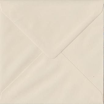 Ivory Gummed 130mm Square Coloured Ivory Envelopes. 130gsm FSC Sustainable Paper. 130mm x 130mm. Banker Style Envelope.