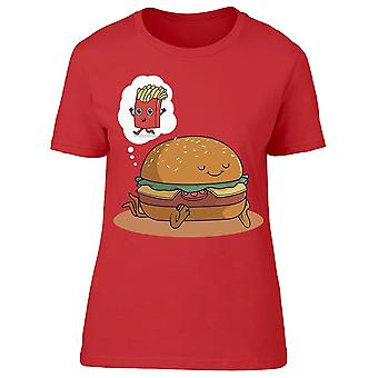 Burger  Dreaming French Fries Tee Women's -Image by Shutterstock