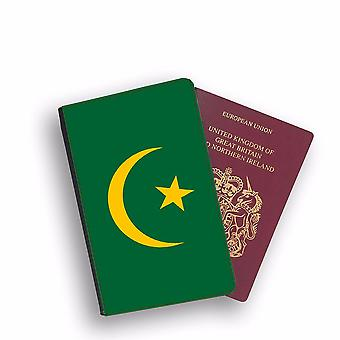 MAURITANIA Flag Passport Holder Style Case Cover Protective Wallet Flags design