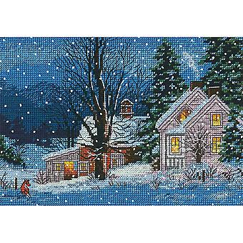 Gold Petite Quiet Night Counted Cross Stitch Kit-7
