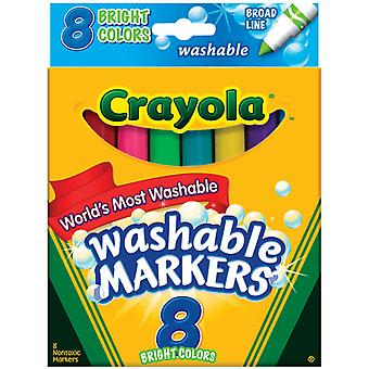 Crayola Broad Line Washable Markers Bright Colors 8 Pkg 58 7819