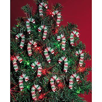 Holiday Beaded Ornament Kit Mini Candy Canes 2