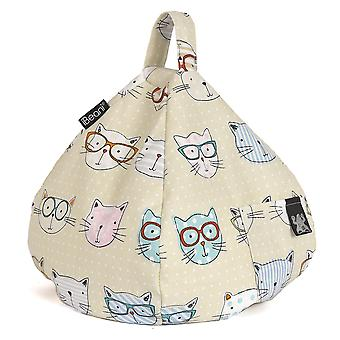 iBeani iPad, Tablet & eReader Bean Bag Stand / Cushion - Cool Cats