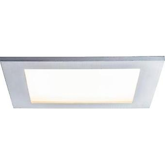 Recessed panel Premium Line IP44 11 W LED brushed aluminium Warm white, square, 1 pc. set 1x11 W, 230V, incl. bulb