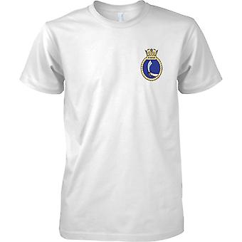 HMS Scimitar - actual buque de la Armada Real t-shirt color