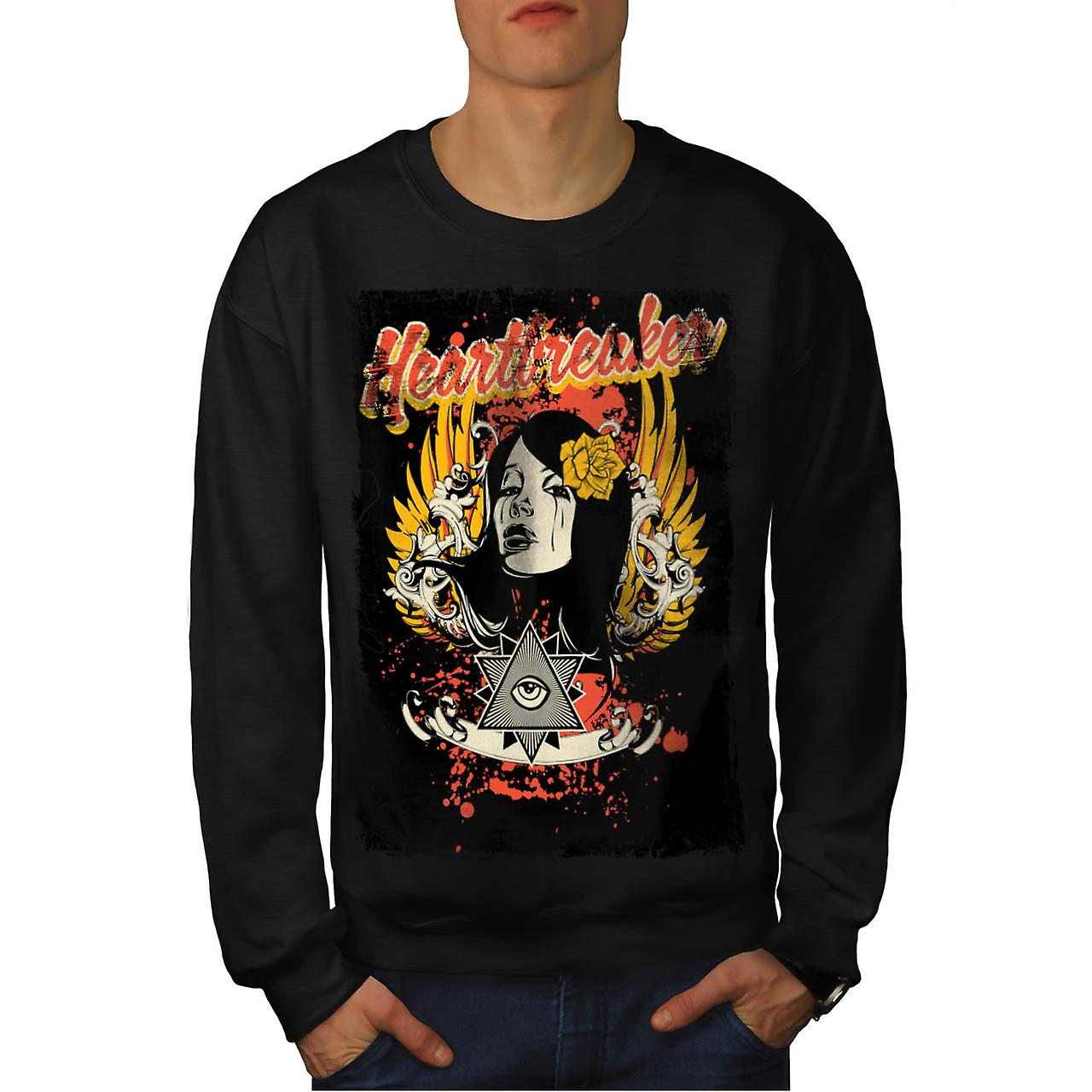 Heart Breaker Society Illuminati Men Black Sweatshirt | Wellcoda
