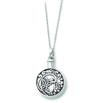 Verouderde Scroll Butterfly Remembrance Collier - 11,3 gram - 18 Inch