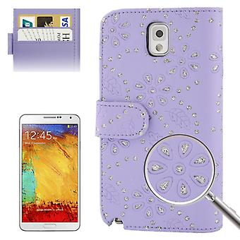 Cell phone cover mobiele telefoon geval over voor mobiele Samsung Galaxy Note3 N9000 paars