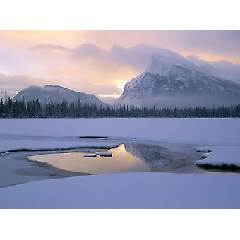 Vermilion Lakes And Mt Rundle Banff National Park Alberta Canada PosterPrint