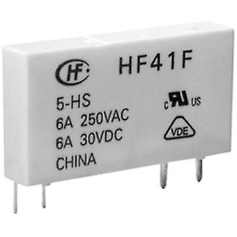 PCB relays 12 Vdc 6 A 1 change-over Hongfa HF41F/012-ZST 1 pc(s)