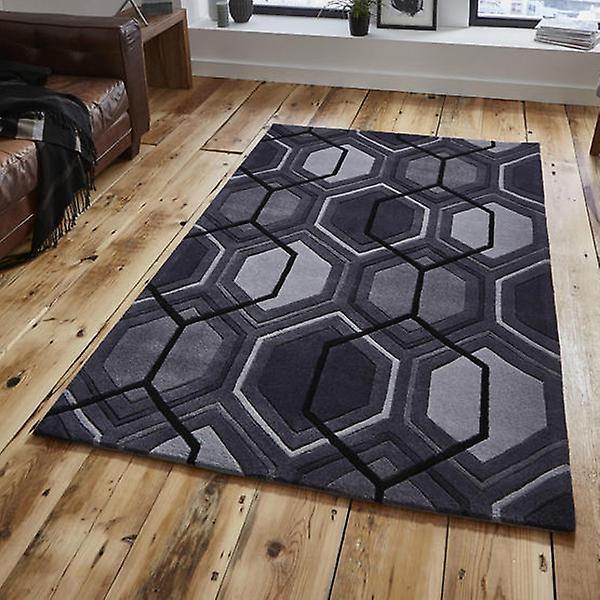 Rugs -Hong Kong Hexagon - HK7526 Charcoal