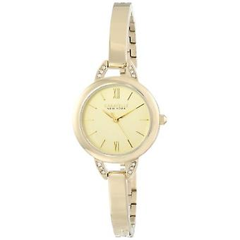 Caravelle New York Women's 44L129 Crystal-Accented Stainless Steel Watch