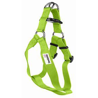 Doodlebone Bold Nylon Harness Green Extra Large 25mm X80-90cm