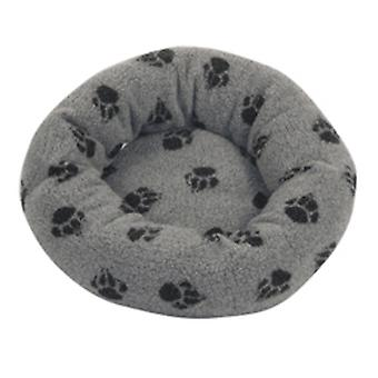 Fleece pote grå pude seng 51cm (20