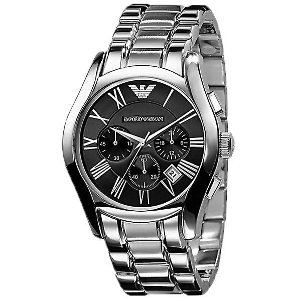 Emporio Armani AR0673 Stainless Steel Black Dial Chronograph Watch