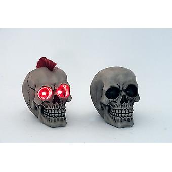 17cm LED calavera luz ornamento decorativo figuras regalo