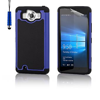 Shock proof case + penna för Microsoft Lumia 950XL - Deep Blue