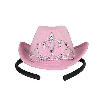 Hen Party Mini Cowboy Headband Hat with Tiara Hen Night Accessory