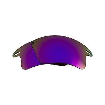 New SEEK Polarized Replacement Lenses for Oakley FAST JACKET XL Purple Mirror