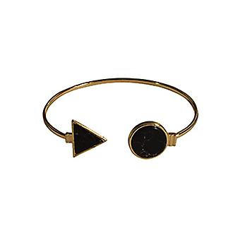 Minimalist chic marble statement cuff bracelet around black