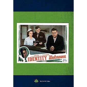 Identity Unknown [DVD] USA import