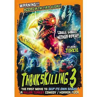 Thankskilling 3 [DVD] USA importerer