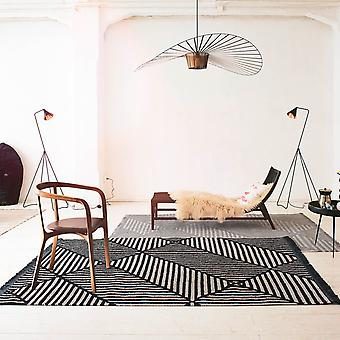 Irregular Fields Rugs 0008 01 By Carpets & Co In Black And White