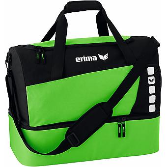 Erima sports bag Club 5 with bottom compartment neon green - 723421