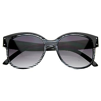 New York Fashion Designer Inspired Round Horn Rimmed Style Sunglasses