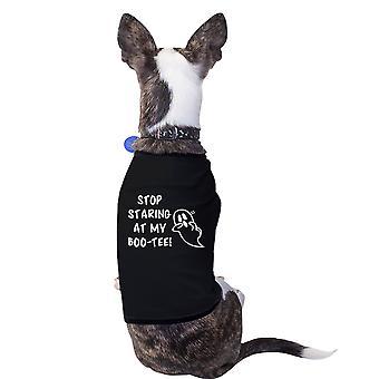 Stoppen met staren naar mijn Boo-Cute Halloween Pet T-shirts voor kleine honden
