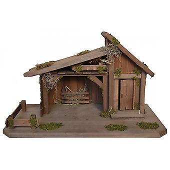 Crib BETHLEHEM Nativity scene wood Nativity stable hand work for characters up to 12 cm