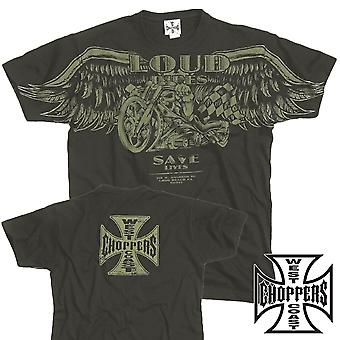 West Coast choppers T-Shirt loud pipes svart