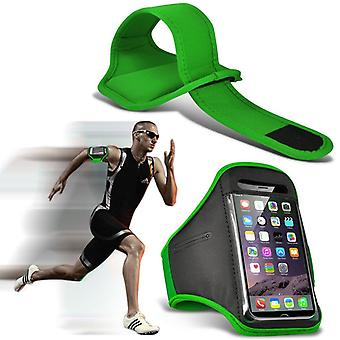 ONX3 (Green) Adjustable Sweatproof/Water Resistent Sports Fitness Running Cycling Gym Armband Phone Case For Blu Advance 4.0 L3