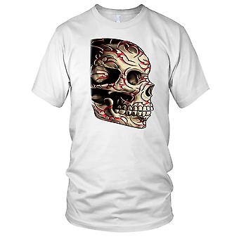 Red Tattoo Skull - Biker Motorcycle Hog Kids T Shirt