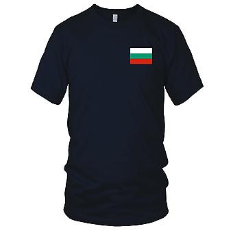 Bulgarien bulgarische Land Nationalflagge - Stickerei Logo - 100 % Baumwolle T-Shirt Kinder T Shirt