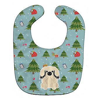 Carolines Schätze BB4766BIB Weihnachten Pekingnese Creme Baby Lätzchen