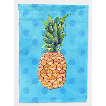 Carolines Treasures  BB8191GF Pineapple Blue Polkadot Flag Garden Size