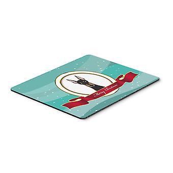 Doberman buon Natale del Mouse Pad, Pad caldo o sottopentola
