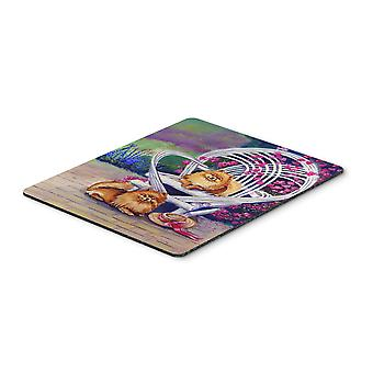 Carolines Treasures  7176MP Red Pomeranians on the patio Mouse Pad, Hot Pad or T