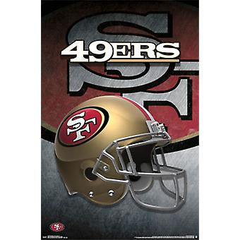 San Francisco 49ers - kask 15 plakat Poster Print